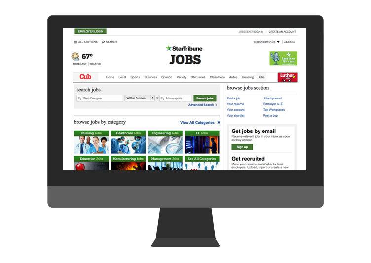 StarTribune device Job Board by Madgex