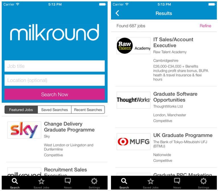 Milkround App Madgex