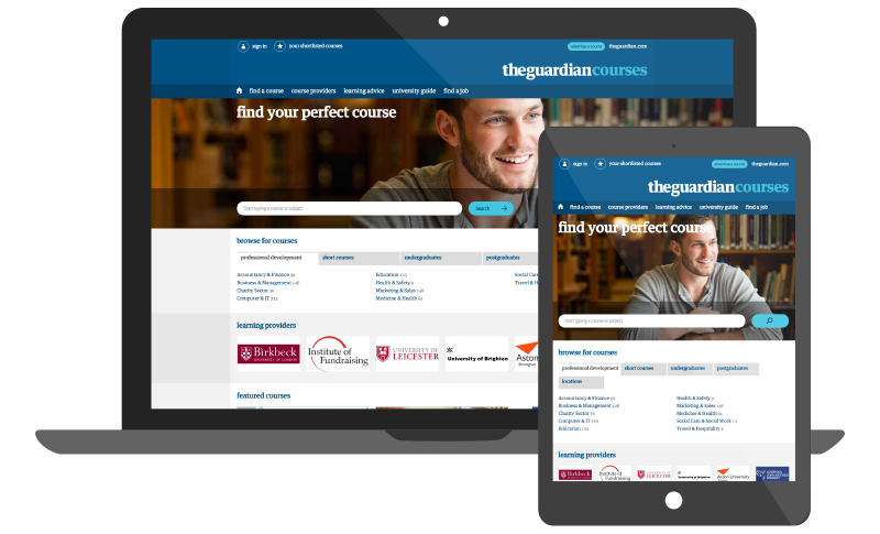 The Guardian Courses Board Platform by Madgex