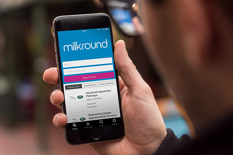 Milkround App Platforf by Madgex