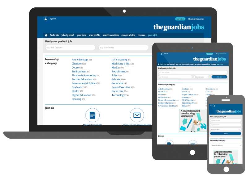 GuardianJobs Madgex Responsive